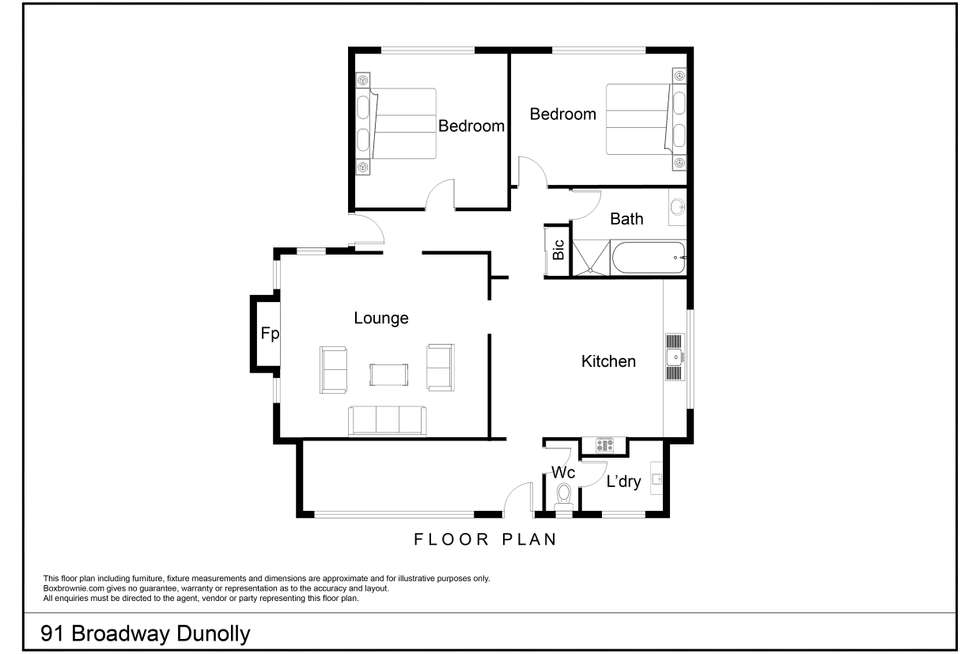 Floorplan of Homely house listing, 91 Broadway, Dunolly VIC 3472