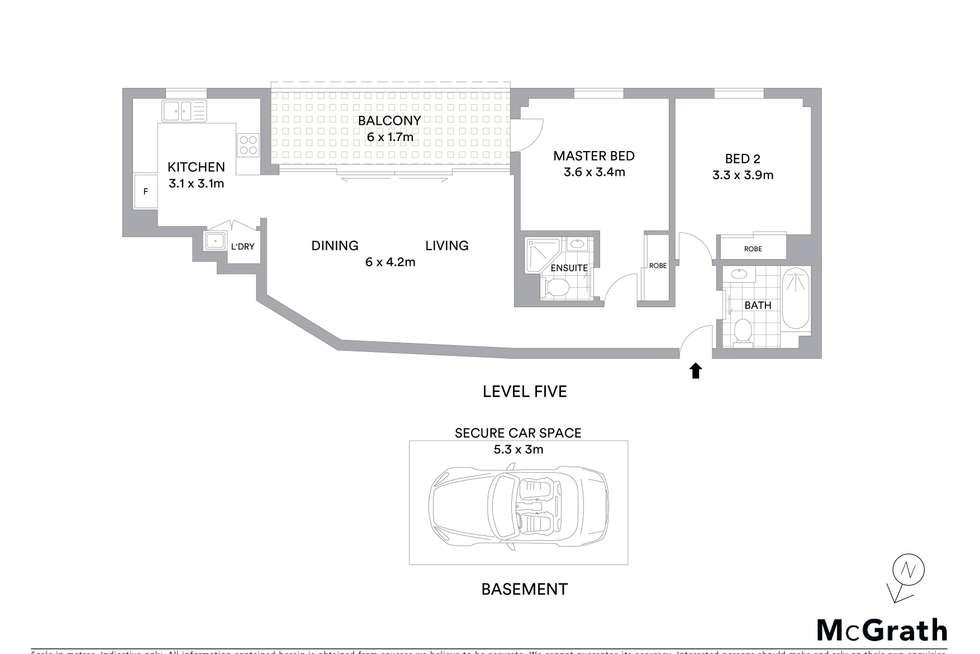 Floorplan of Homely apartment listing, 15/32 Hassall Street, Parramatta NSW 2150