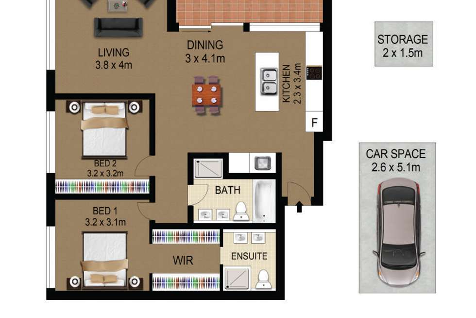 Floorplan of Homely apartment listing, 103/46-48 Gladstone Avenue, Ryde NSW 2112