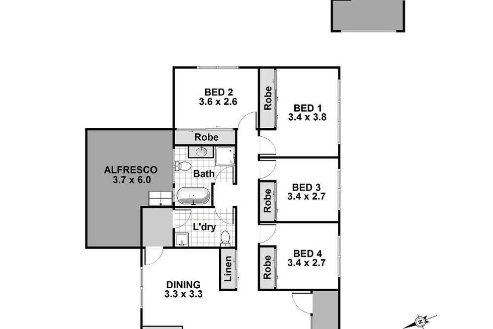 Floorplan of Homely house listing, 24 Beach Street, Vincentia NSW 2540