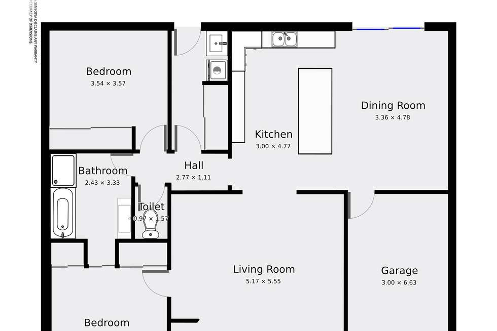 Floorplan of Homely unit listing, Unit 6/6 Warden Street, Moama NSW 2731