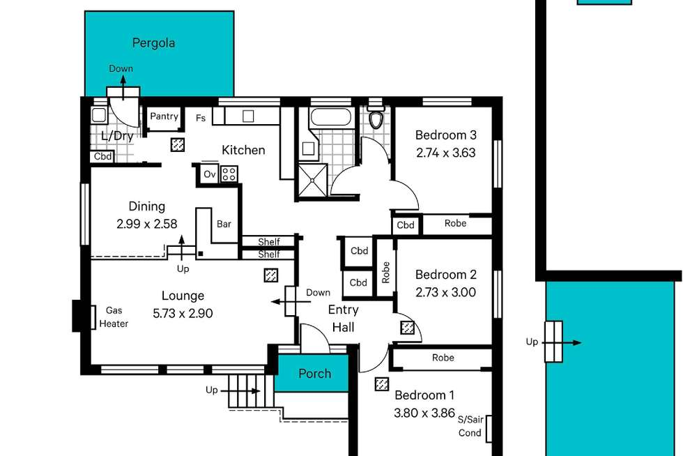 Floorplan of Homely house listing, 109 Eyre Street, Seaview Downs SA 5049