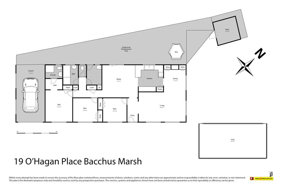 Floorplan of Homely house listing, 19 O'Hagan Place, Bacchus Marsh VIC 3340