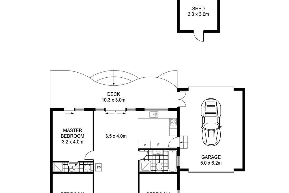 Floorplan of Homely house listing, 59 Edols Street, Ballan VIC 3342