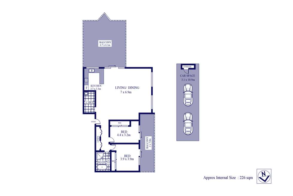 Floorplan of Homely apartment listing, 16/46-48 Carnarvon Street, Silverwater NSW 2128
