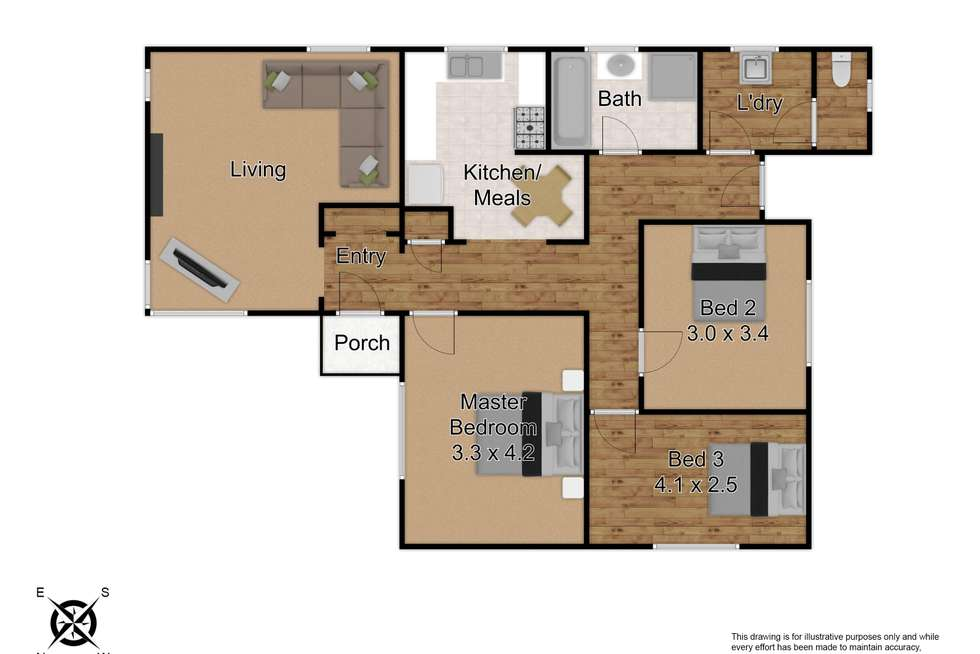 Floorplan of Homely house listing, 39 Roberts Avenue, Mulgrave VIC 3170