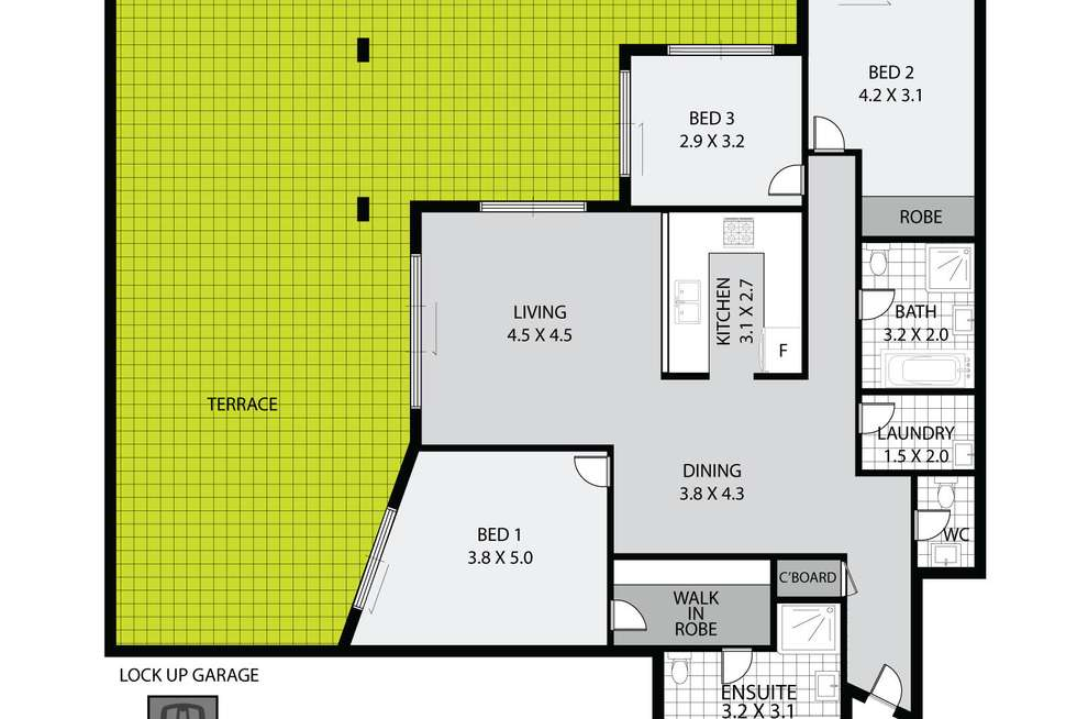 Floorplan of Homely apartment listing, 4/40 Hilly Street, Mortlake NSW 2137
