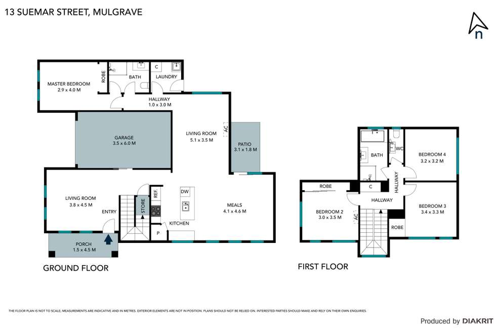 Floorplan of Homely townhouse listing, 13 Suemar Street, Mulgrave VIC 3170