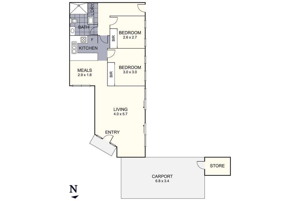 Floorplan of Homely unit listing, 2/51 Lea Road, Mulgrave VIC 3170