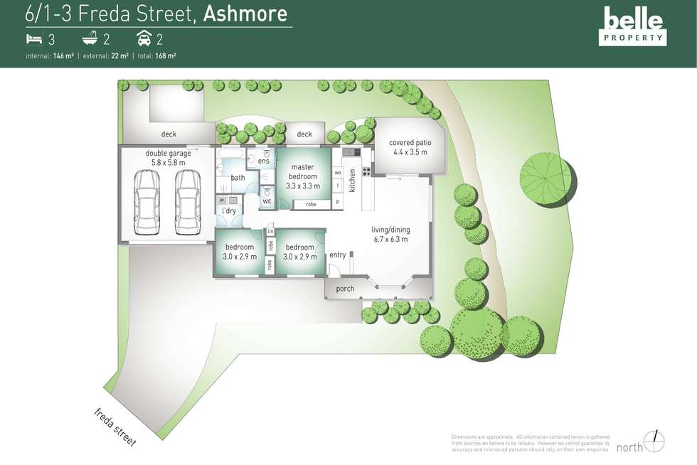 Floorplan of Homely townhouse listing, 6/1-3 Freda Street, Ashmore QLD 4214