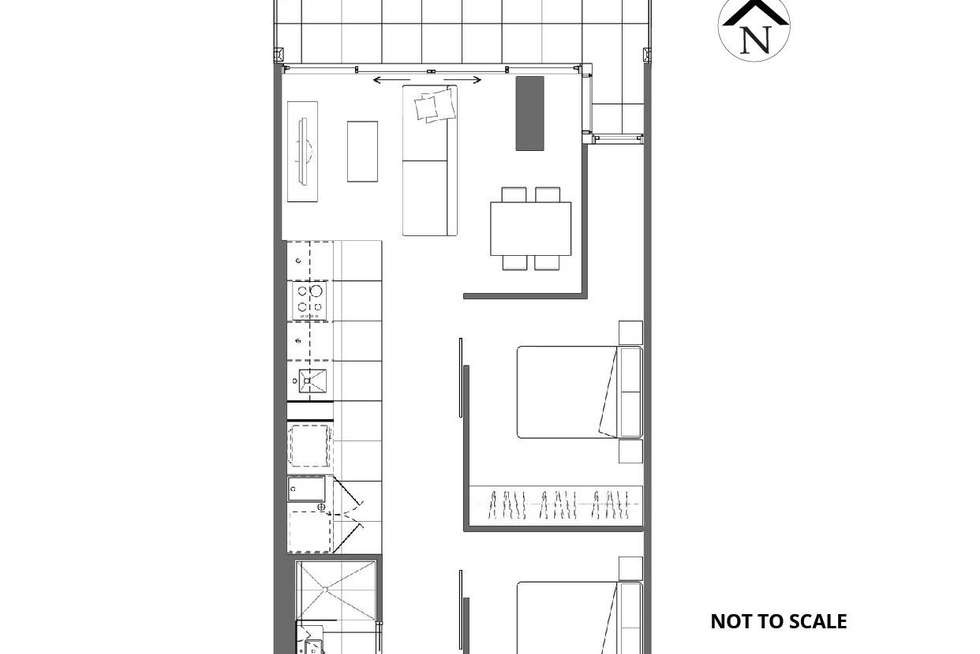 Floorplan of Homely apartment listing, 521/35 Malcolm Street, South Yarra VIC 3141
