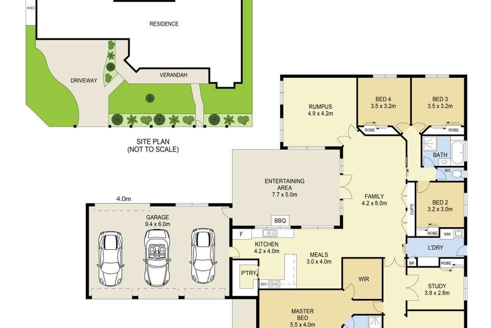 Floorplan of Homely house listing, 3 Royal Oaks Drive, Tarneit VIC 3029