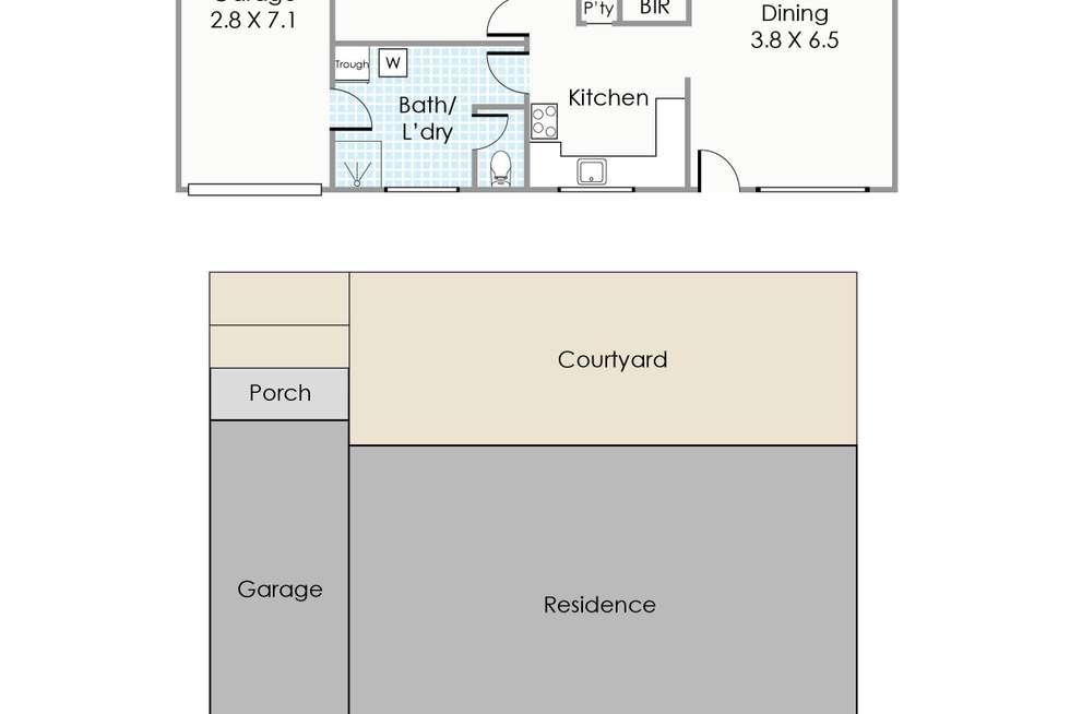 Floorplan of Homely villa listing, 7/54 Gwenyfred Road, Kensington WA 6151