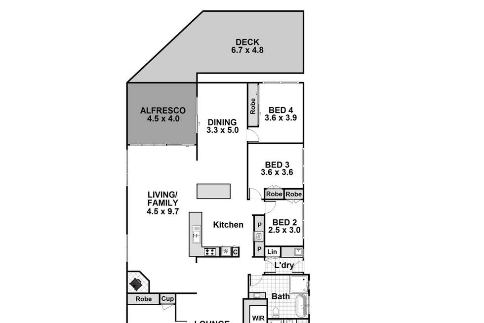 Floorplan of Homely house listing, 3 First Avenue, Erowal Bay NSW 2540