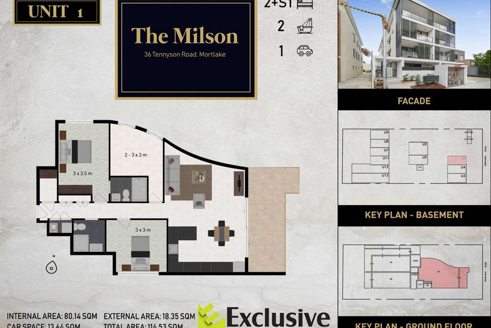 Floorplan of Homely apartment listing, 01/36 Tennyson Road, Mortlake NSW 2137