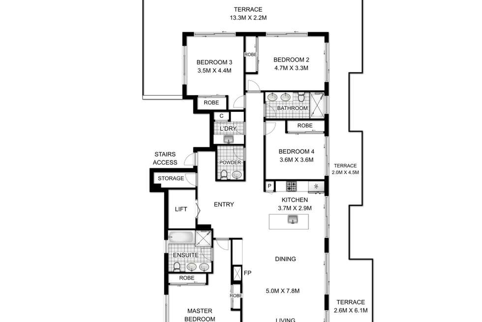 Floorplan of Homely apartment listing, 10/13 Hilly Street, Mortlake NSW 2137
