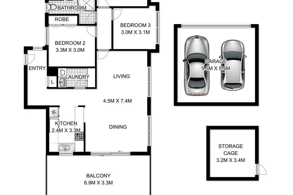 Floorplan of Homely apartment listing, 15/125-127 Mona Vale Road, St Ives NSW 2075