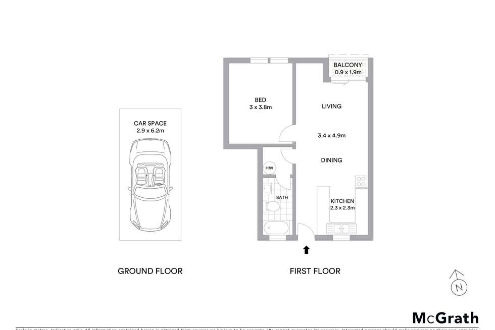 Floorplan of Homely unit listing, 13/26 Springvale Drive, Hawker ACT 2614