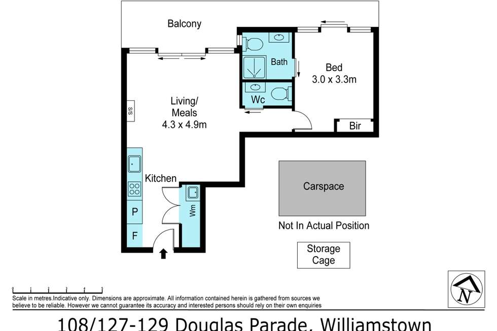Floorplan of Homely apartment listing, 108/127 Douglas Parade, Williamstown VIC 3016