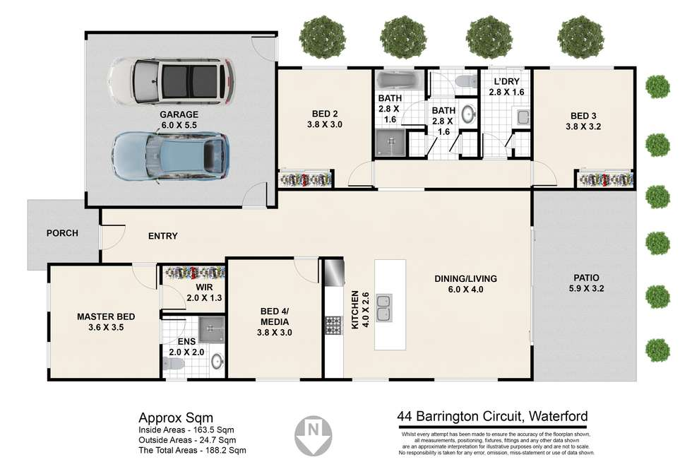 Floorplan of Homely house listing, 44 Barrington Circuit, Waterford QLD 4133