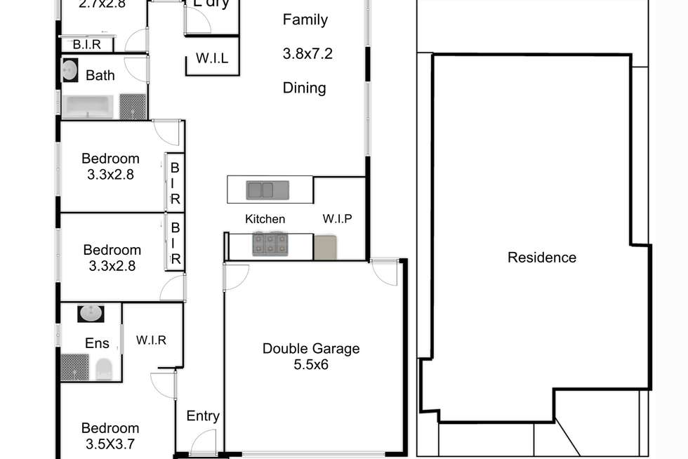 Floorplan of Homely house listing, 178 Brossard Road, Mickleham VIC 3064