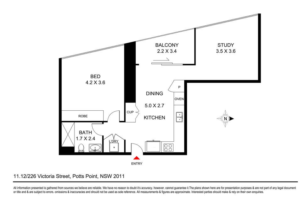 Floorplan of Homely apartment listing, 1112/226 Victoria Street, Potts Point NSW 2011