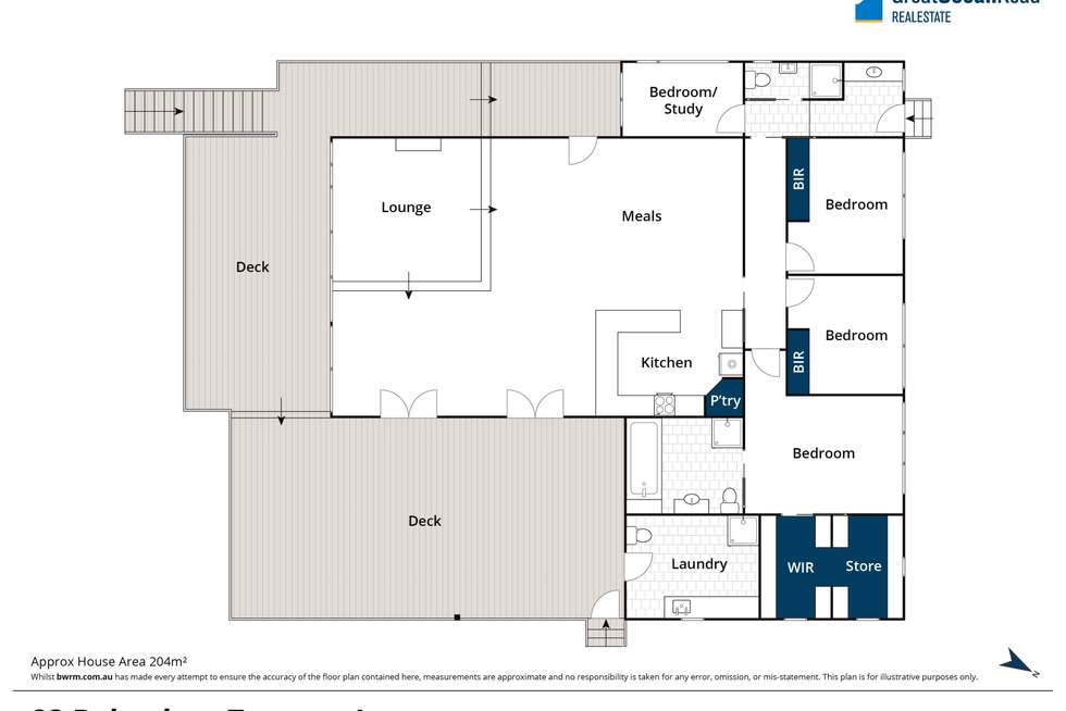 Floorplan of Homely house listing, 23 Belvedere Terrace, Lorne VIC 3232