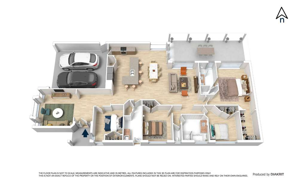 Floorplan of Homely house listing, 17 Rowell Drive, Mernda VIC 3754