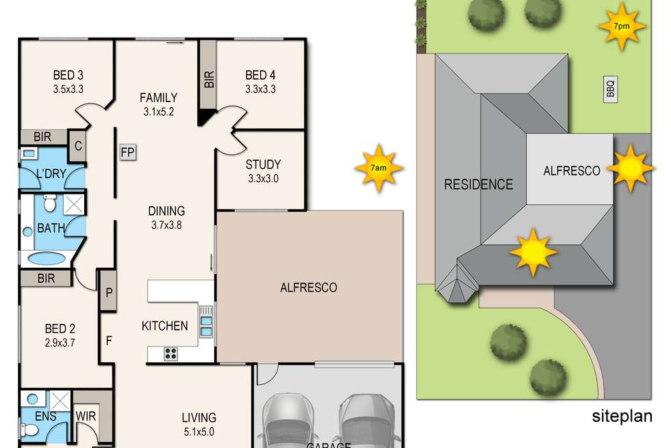 Floorplan of Homely house listing, 13 Station Street, Lang Lang VIC 3984