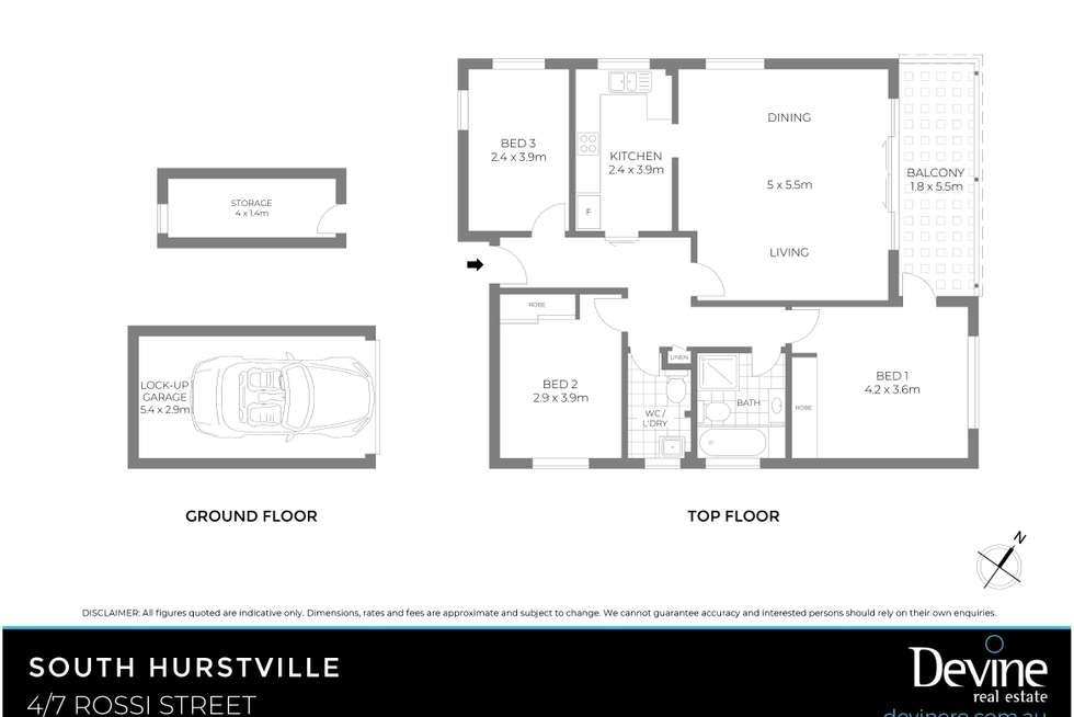 Floorplan of Homely apartment listing, 4/7 Rossi Street, South Hurstville NSW 2221