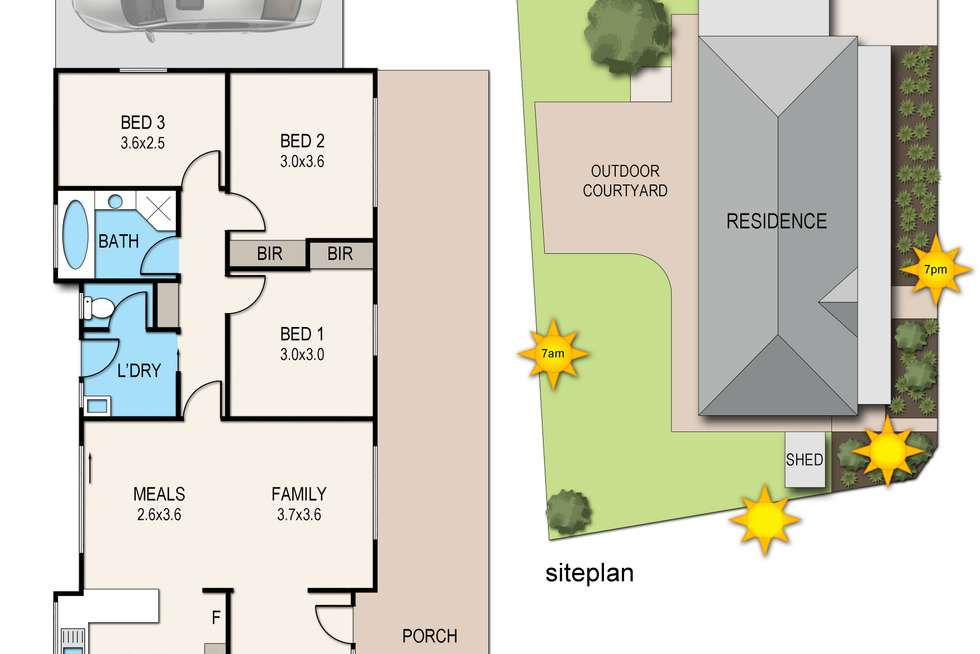 Floorplan of Homely house listing, 2 Prasino Court, Carrum Downs VIC 3201