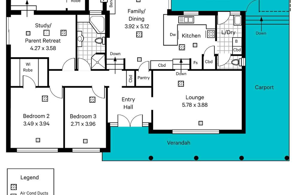 Floorplan of Homely house listing, 23 Greenfield Road, Seaview Downs SA 5049