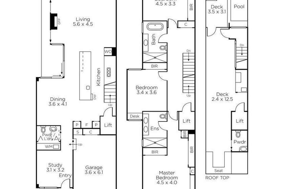 Floorplan of Homely house listing, 10 Withers Street, Albert Park VIC 3206