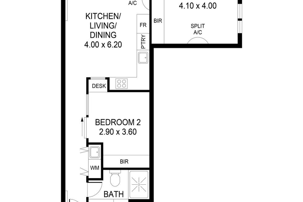 Floorplan of Homely apartment listing, 418/185 Morphett Street, Adelaide SA 5000