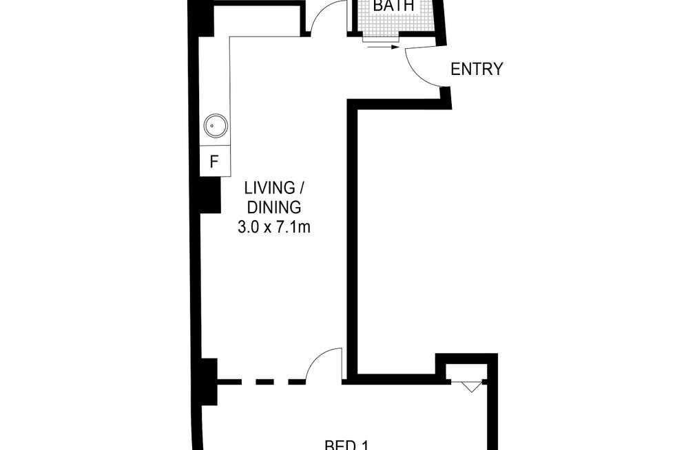 Floorplan of Homely apartment listing, 702/4 Bridge Street, Sydney NSW 2000