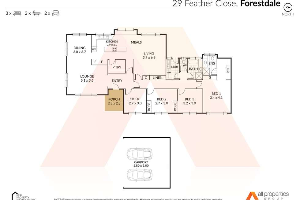 Floorplan of Homely acreageSemiRural listing, 29 Feather Close, Forestdale QLD 4118