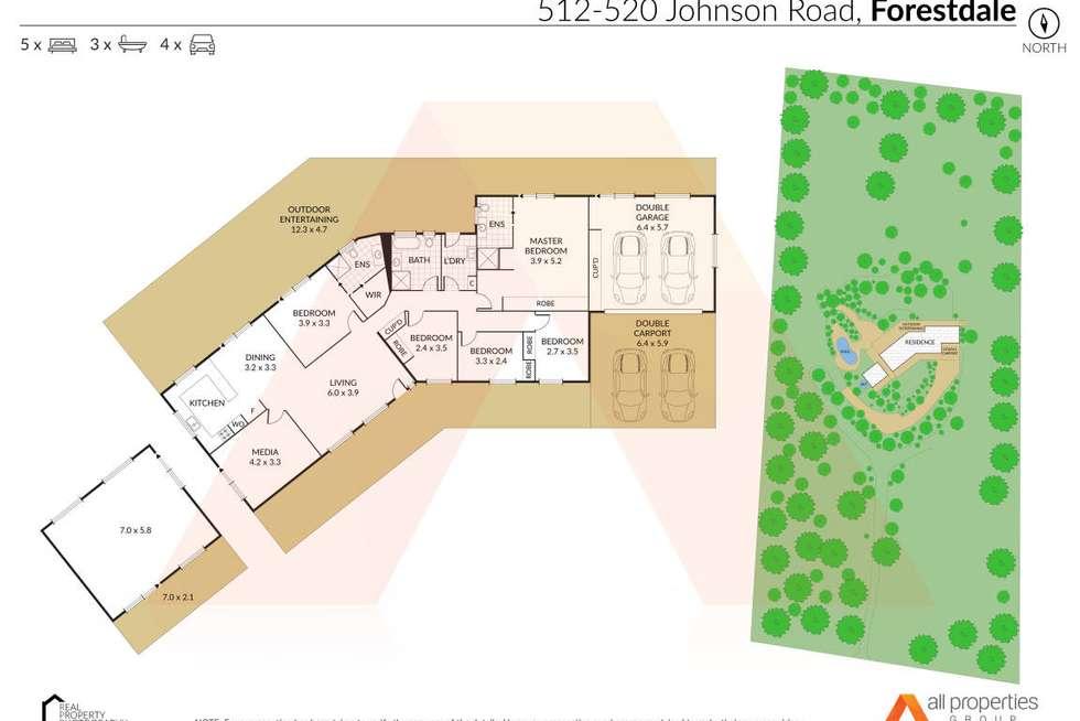 Floorplan of Homely acreageSemiRural listing, 512-520 Johnson Road, Forestdale QLD 4118