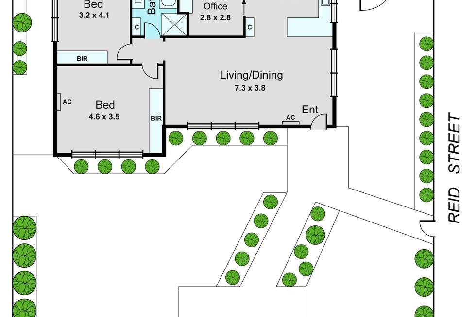 Floorplan of Homely unit listing, 1/216 Warrigal Road, Oakleigh South VIC 3167