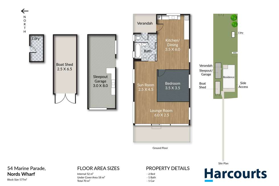 Floorplan of Homely house listing, 54 Marine Parade, Nords Wharf NSW 2281