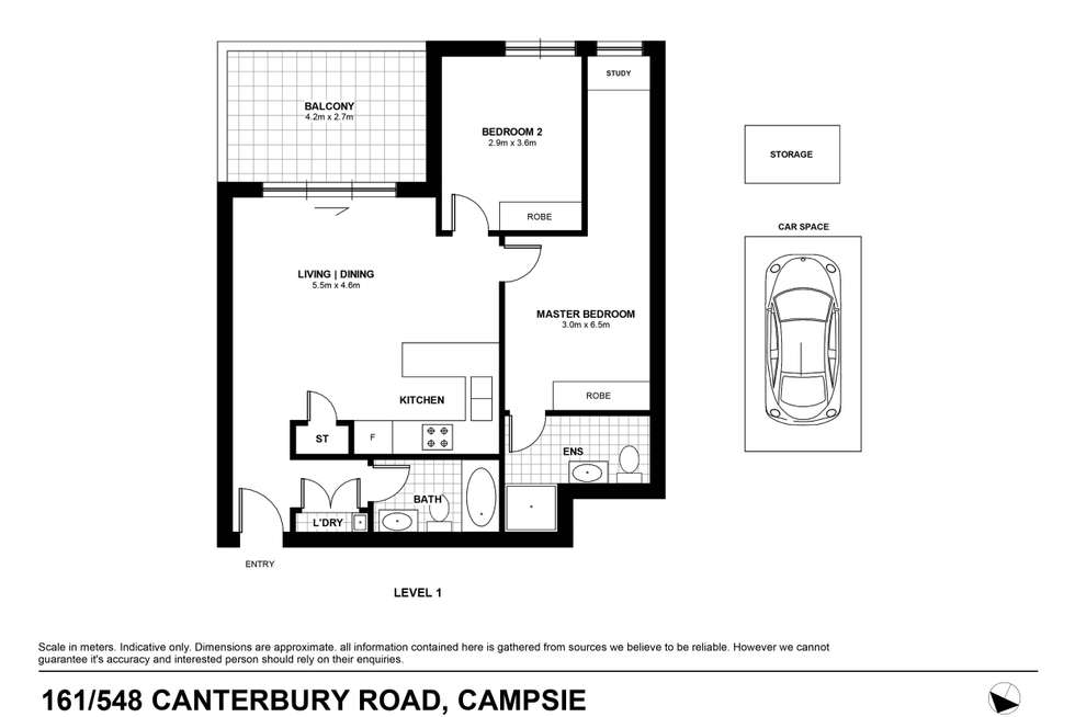 Floorplan of Homely apartment listing, 161/548-568 Canterbury Road, Campsie NSW 2194