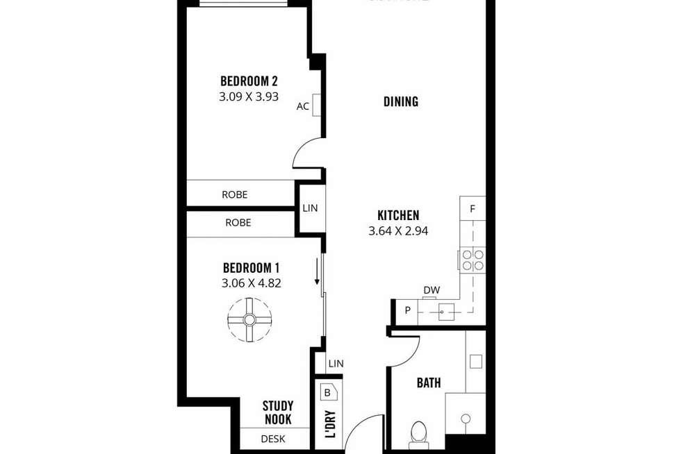 Floorplan of Homely apartment listing, 514/185 Morphett Street, Adelaide SA 5000