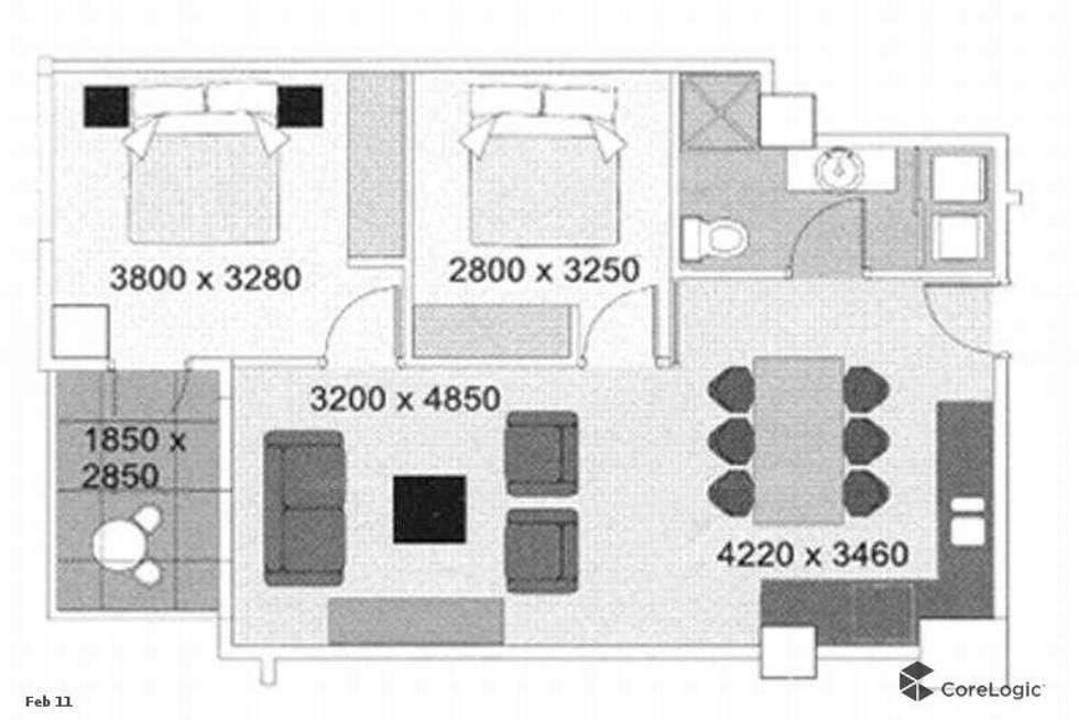 Floorplan of Homely apartment listing, 1115/96 North Terrace, Adelaide SA 5000