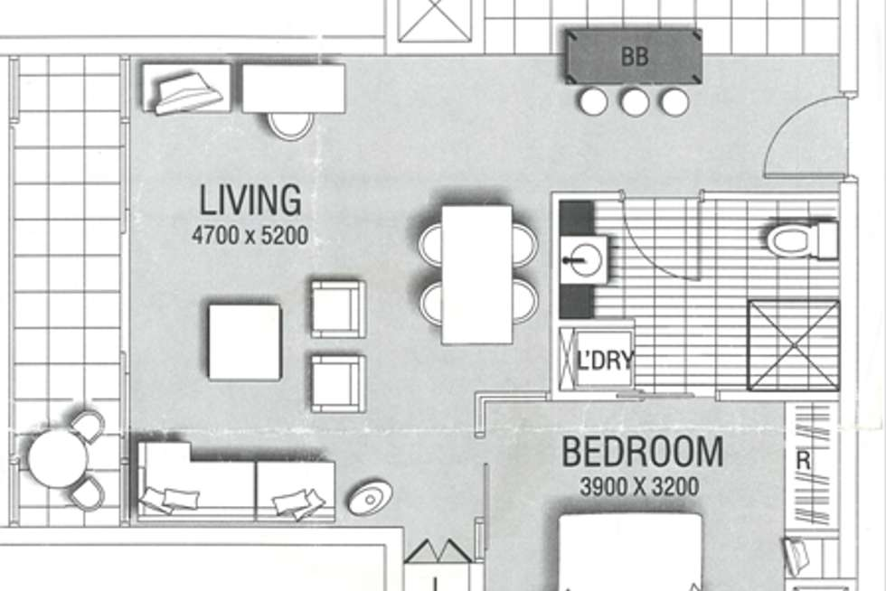 Floorplan of Homely apartment listing, 301/102-105 North Terrace, Adelaide SA 5000