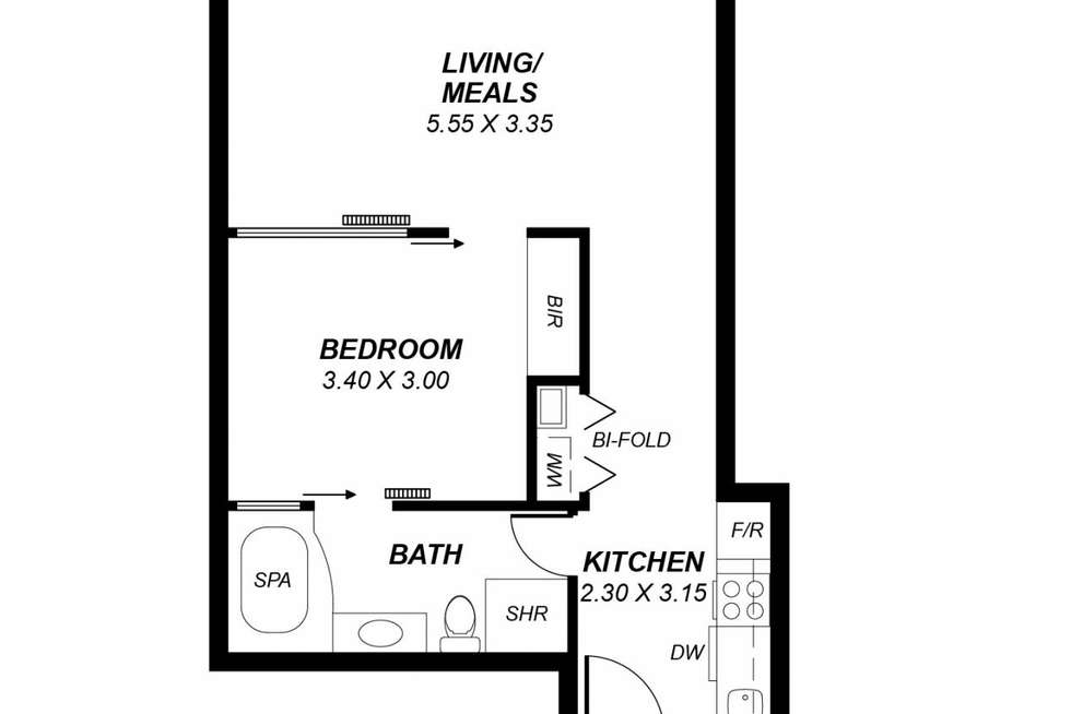 Floorplan of Homely apartment listing, 1509/96 North Terrace, Adelaide SA 5000