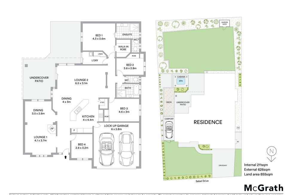 Floorplan of Homely house listing, 20 Sabal Drive, Sawtell NSW 2452