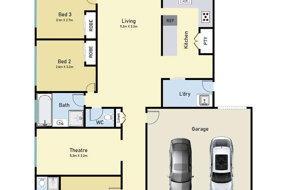 Floorplan of Homely house listing, 29 Frost Street, Carrum Downs VIC 3201