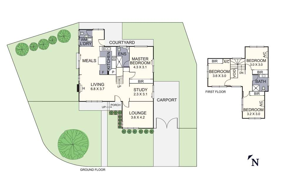 Floorplan of Homely house listing, 4 Curzon Street, Ivanhoe VIC 3079