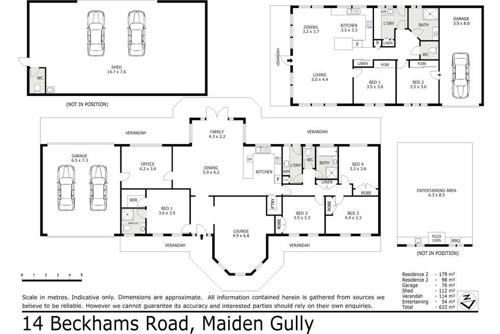 Floorplan of Homely residentialLand listing, 14 Beckhams Road, Maiden Gully VIC 3551