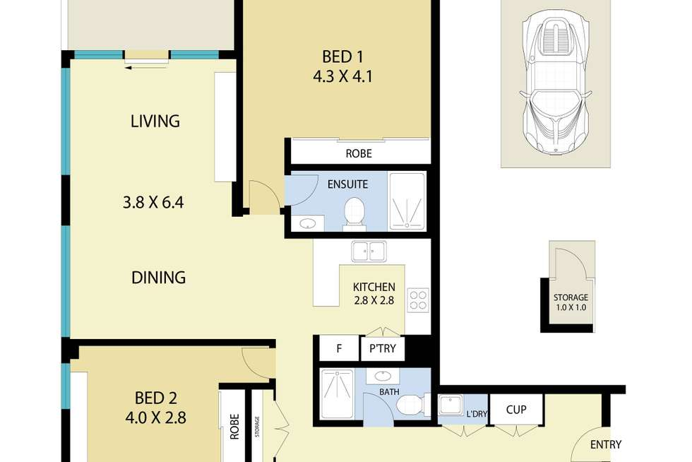 Floorplan of Homely apartment listing, 52/22 Gladstone Avenue, Wollongong NSW 2500