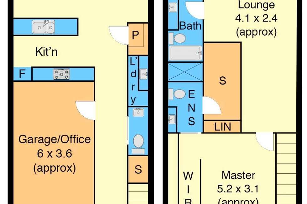 Floorplan of Homely townhouse listing, 9 Amore Drive, Sunshine West VIC 3020